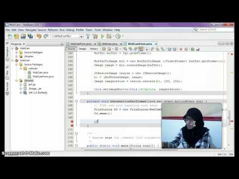 Tutorial Netbeans with Java : WebCam Application & Capture Image #2