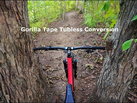 How to do a tubeless conversion with gorilla tape