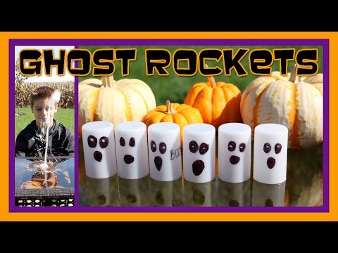 Halloween Ghost Rockets! Easy Kids Science Experiments