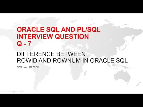 ORACLE SQL AND PL/SQL INTERVIEW QUESTION : DIFFERENCE BETWEEN ROWID AND ROWNUM