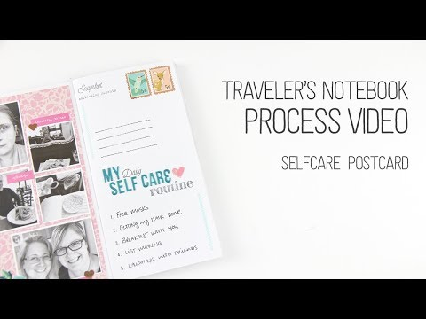 Traveler's Notebook Layout // Adding multiple photos to one page // Self Care Postcard