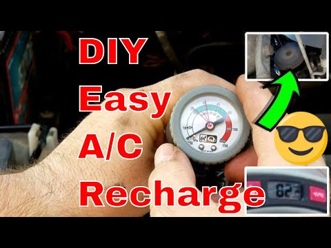 DIY - How to Recharge Your Car's AC System Using AC Pro Recharge Kit