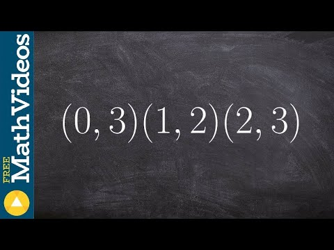 Algebra 2 - How to write the equation of a parabola given three points