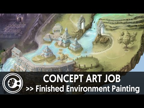 Concept art job - Finished Environment Painting