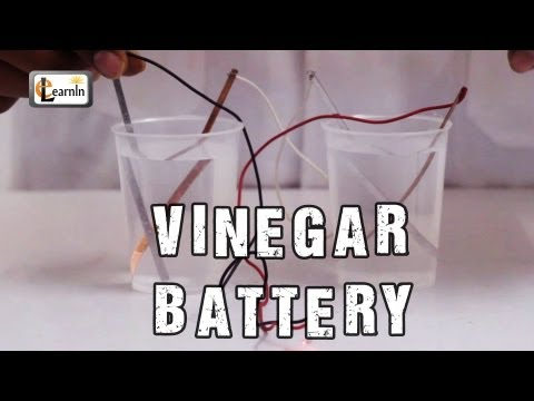 How to make a Vinegar Battery | Homemade Vinegar Battery | Science Experiment for School Kids