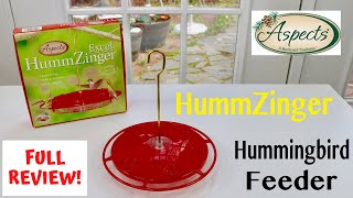 😍 ASPECTS  HUMMZINGER ❤️    Hummingbird Feeder - Review ✅
