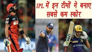 IPL 2017:Top 5 lowest scores in IPL history    वनइंडिया हिन्दी