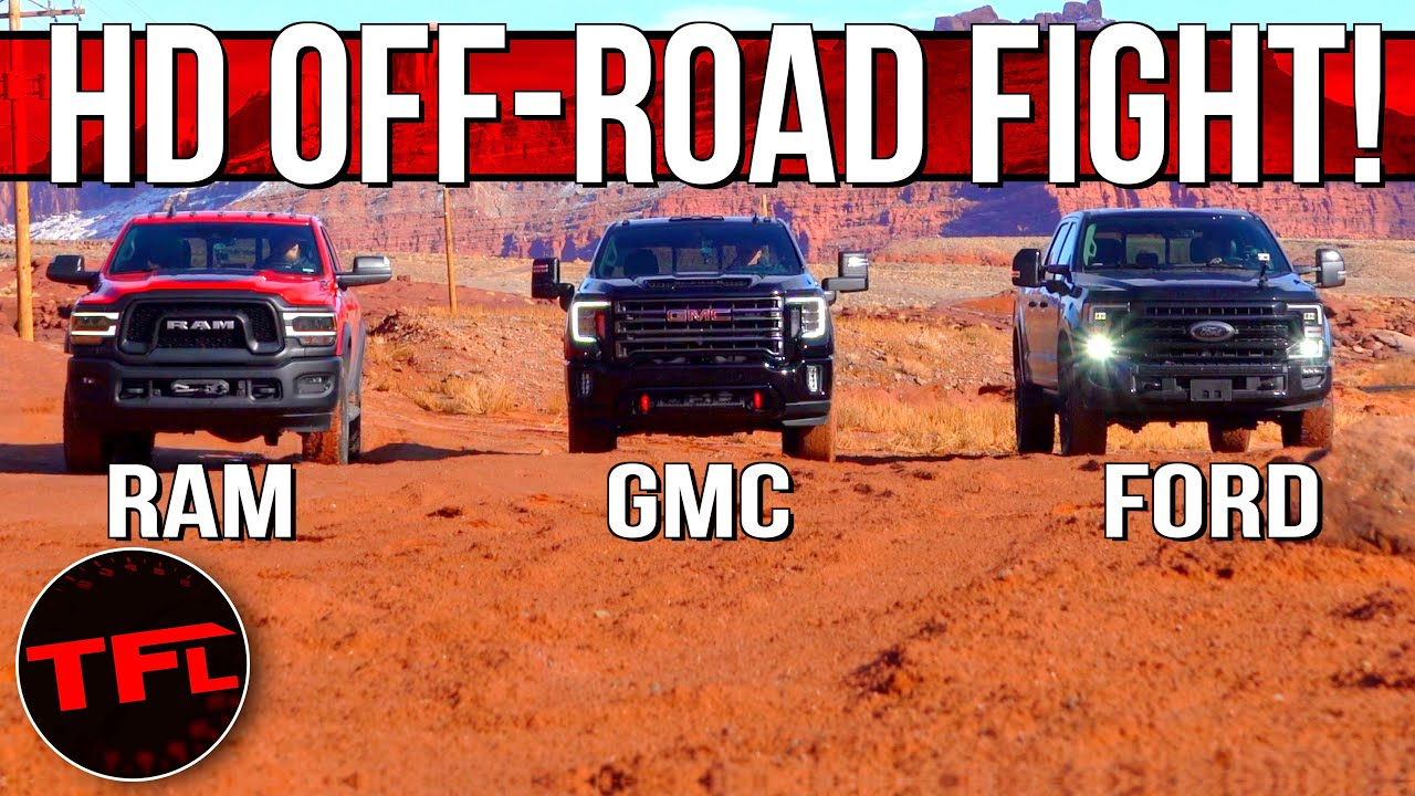 Only One Rules: Ford F-250 Tremor vs RAM Power Wagon vs GMC Sierra HD AT4 Ultimate Off-Road Test!