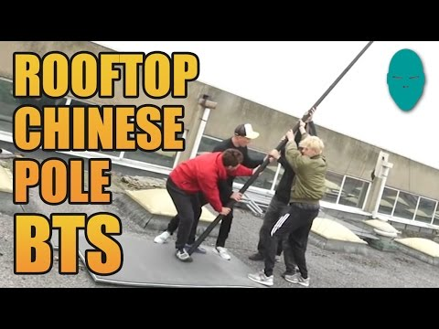 Rooftop Chinese Pole - Behind the Scenes | Damien Walters