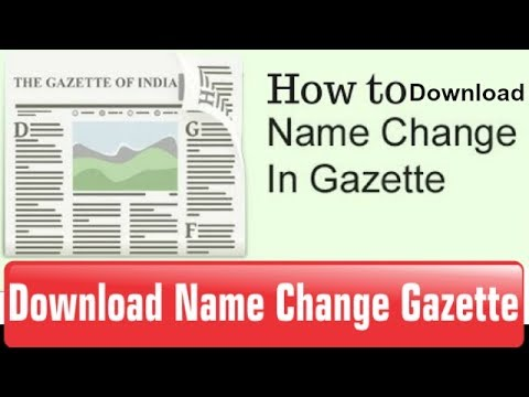 How to download Name/Dob/Religion Change in Gazette || Tech Fest