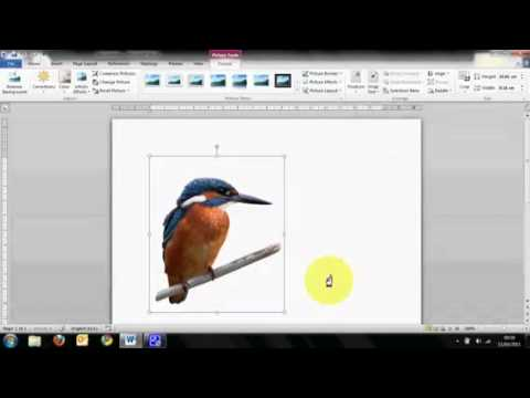 Microsoft Word 2010 Tutorial: Setting a background image