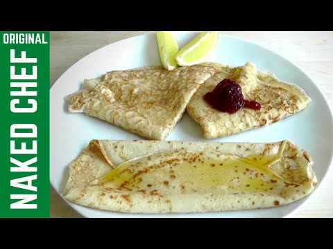 PANCAKES with sugar & Lemon How To Make traditional recipe crepes
