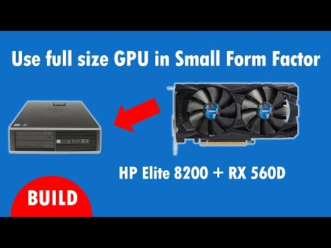 HP Elite 8200 Cheap Gaming with Full Size Radeon RX 560