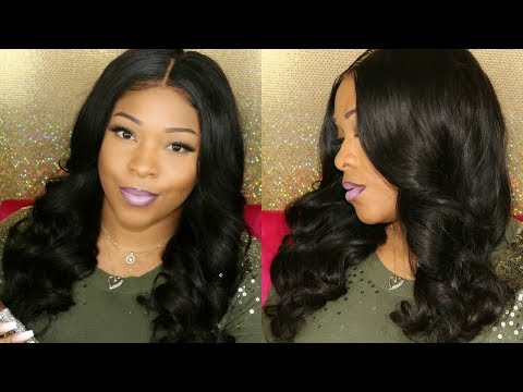 NO HEAT Hair Tutorial: First Time Ever Trying Heatless Curls On Lace Front Wig | MyFirstWig
