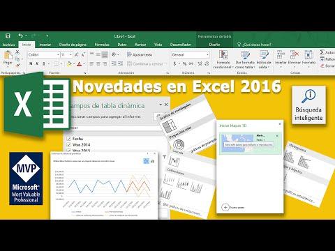 Novedades en Excel 2016