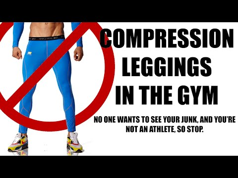Compression Leggings Rant / Stop wearing them without shorts.
