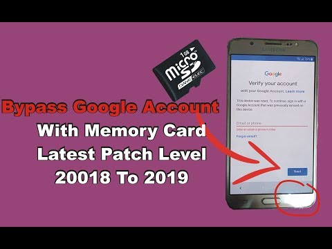 Bypass Google Account With Memory Card Letest Security Patch Level