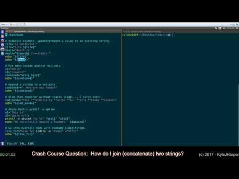 Concatenate (Join) Strings in Shell Script