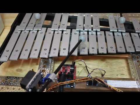 Axel-F Performed by Robot Glockenspiel and Hacked Hard Drives