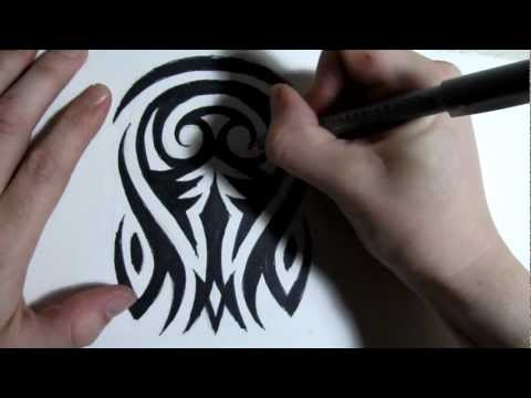 How to Draw a Tribal Half Sleeve Tattoo Design - Part 2