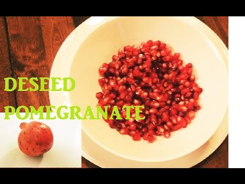 Pomegranate Open & Seeding | How to de-seed pomegranate