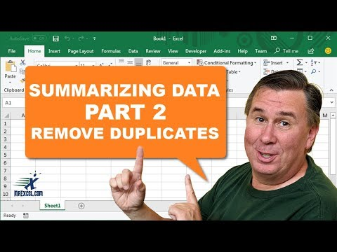 Learn Excel - Remove Duplicates - Podcast 2188