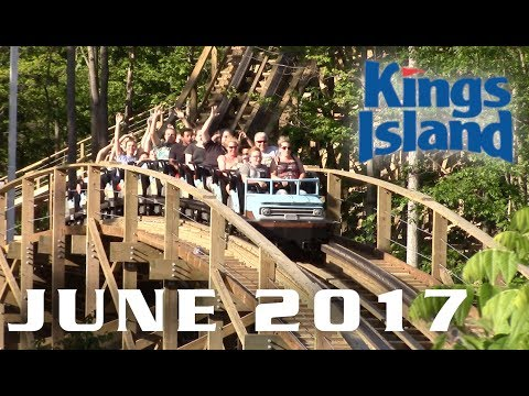 Kings Island June 2017 Park Footage
