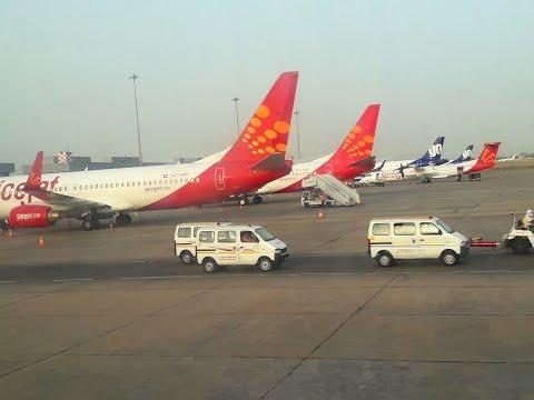 Flight Landing at Indira Gandhi International Airport New Delhi