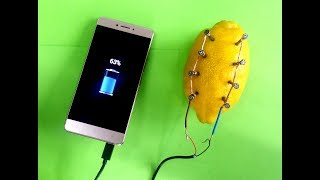 EXPERIMENT CAN YOU CHARGE YOUR PHONE WITH A LEMON ? + BONUS EXPERIMENT