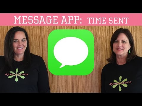 iPhone / iPad Message App - Finding the Time Messages Were Sent