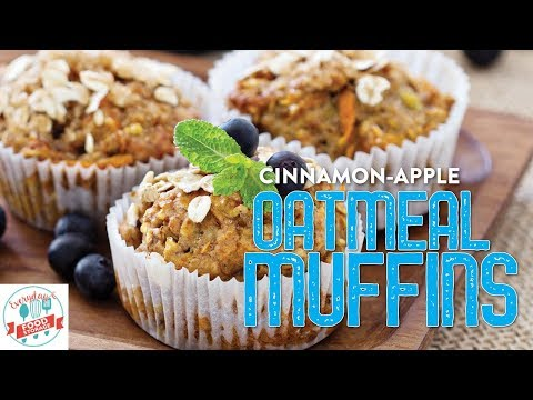 How to Make Cinnamon-Apple Oatmeal Muffins from Food Storage-Perfect for Breakfast!