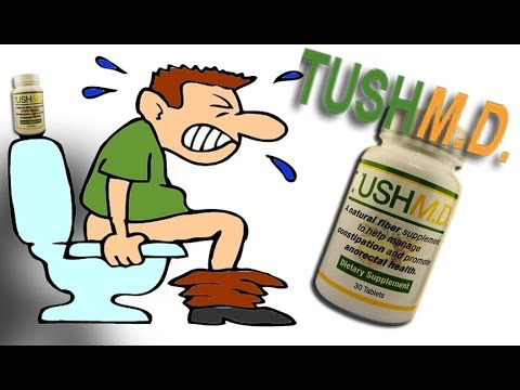 Hemorrhoids relief & Constipation relief with TUSHM.D. All Natural Supplement