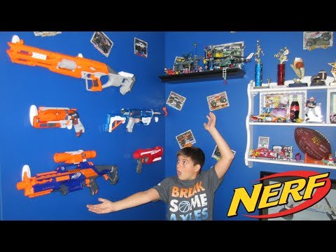 Nerf Gun Wall DIY - Build in 5 minutes with 3M Command Hooks