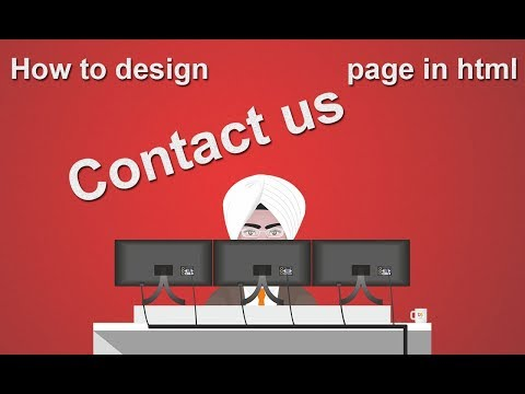 How to design contact us page in html,  How to add map in html