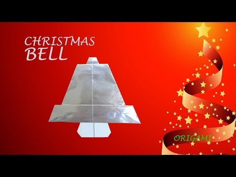 Christmas bell | Fun DIY easy origami for Holiday decoration