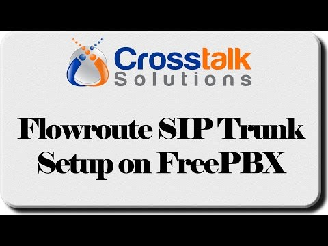 Flowroute SIP Trunk Setup on FreePBX