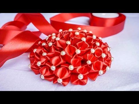 DIY Ribbon Flower | Weddings Flower Decorations |  HandiWorks #87