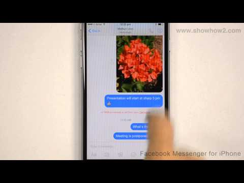 Facebook Messenger For iPhone - How To Mute Notifications For A Conversation