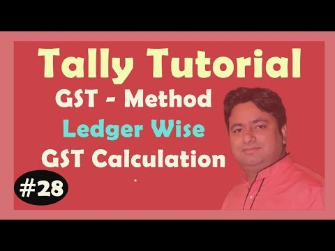 GST Part 4 PDF - Ledger wise Tax calculation in Tally ERP9 Advance Tutorial in Hindi By Manoj Sir