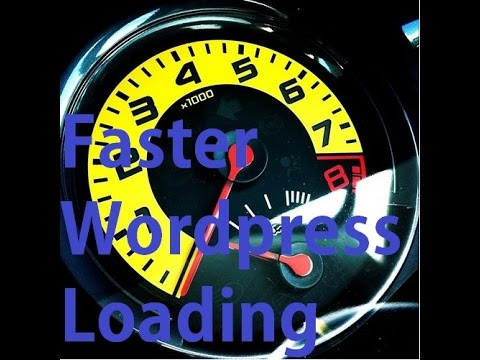 How To Get Faster Wordpress Loading Speeds