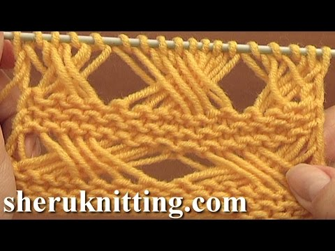 Cross Stitch Knitting Pattern Tutorial 7 Long Loops Extended Stitches
