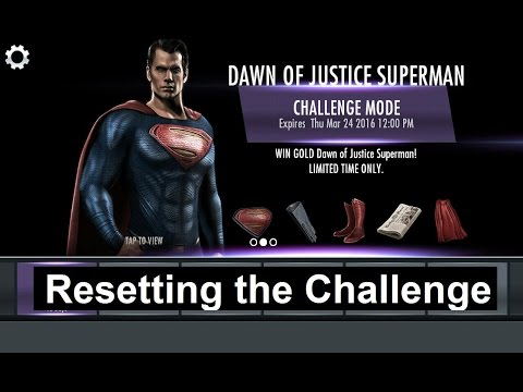 Injustice Mobile on Android (glitch): How to Reset the Dawn of Justice Superman Challenge
