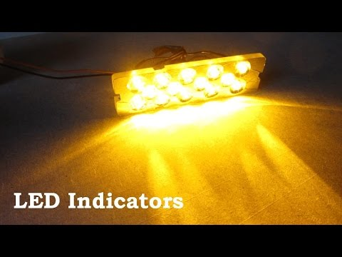 DIY LED Car Indicators Lights 12V Panel 汽车灯