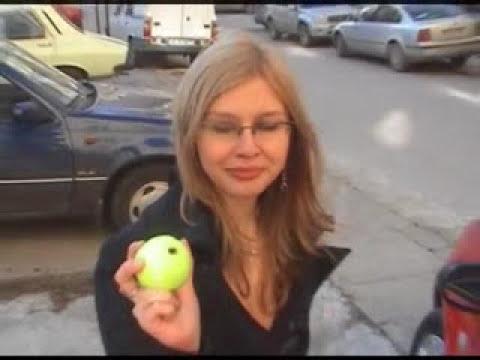Unlock a car door with a tennis ball