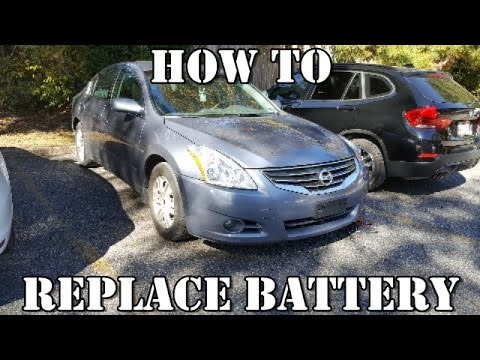 HOW TO REPLACE BATTERY NISSAN ALTIMA 2007-2012