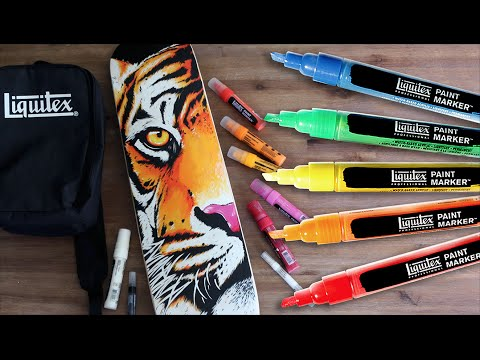 PAINTING SKATEBOARD with Markers