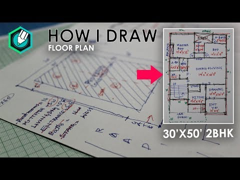 How i Prepare FLOOR PLAN - 2BHK    30'x50' site