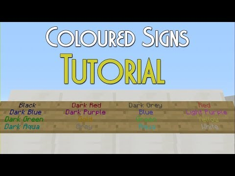 Minecraft Xbox / PS - TU64 - Coloured Text on Signs ON MINECRAFT CONSOLE! - NEW TUTORIAL