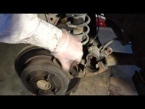 How to replace rear brake pads and disc Toyota Corolla. Years 2002 to 2012