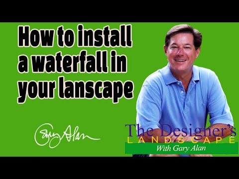 How to install a waterfall in your lansdape Designers Landscape#623